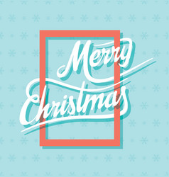 creative merry christmas poster design vector image vector image