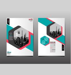 flyer brochure design template abstract vector image vector image