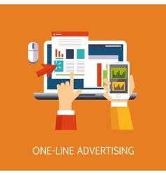 On-line Advertisement Concept Art vector image