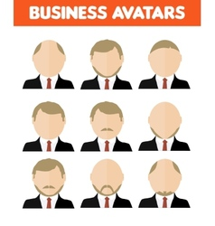 Set of business avatar of businessman vector image vector image
