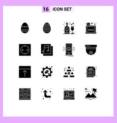 16 creative icons modern signs and symbols of vector