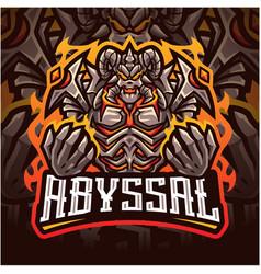 Abyssal esport mascot logo design vector
