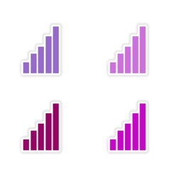 Assembly realistic sticker design on paper chart vector