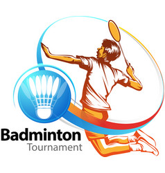 badminton tournament event vector image