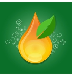 bio fuels ethanol green energy alternative oil vector image