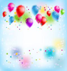 Blur happy birthday vector