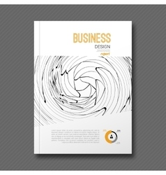 Business design background Cover Magazine info vector image