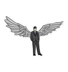 Businessman with wing on his back vector