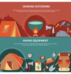 Camping banner set vector image