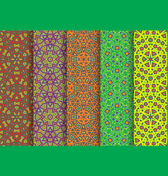carnival colorful seamless patterns package vector image