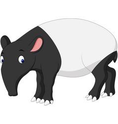Cartoon asian tapir vector