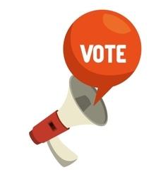 Cartoon elections vote megaphone design vector