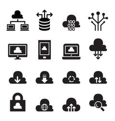 cloud computing concept icon set vector image