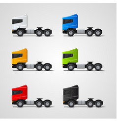 Colored trucks set vector