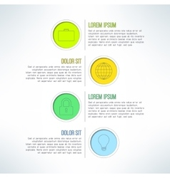 Colorful circle banners and label elements vector