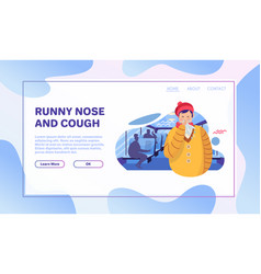 Common cold flat vector