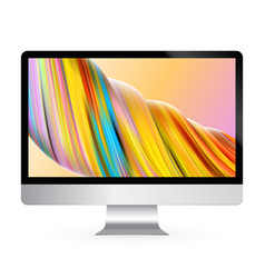 computer display color screen model vector image
