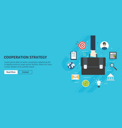 cooperation strategybusiness vision and leadership vector image