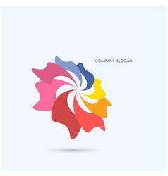 Creative abstract logo design vector