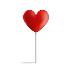 Design heart lollipop vector image