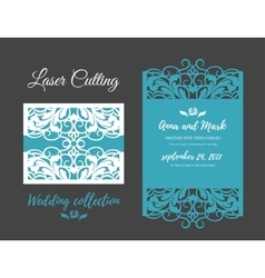 diy template for laser cutting open card vector image