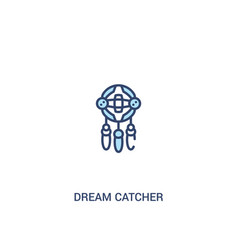 Dream catcher concept 2 colored icon simple line vector