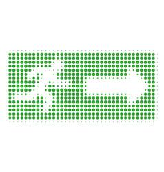 emergency exit halftone icon vector image
