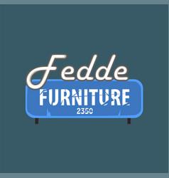 Fedde furniture retro street signboard vintage vector