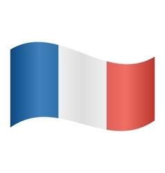 Flag of France waving vector image