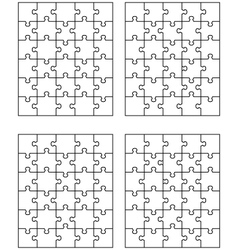 Four puzzles vector
