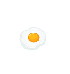 fried egg isolated on white background vector image