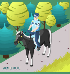 Gangs and police isometric background vector