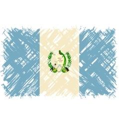 Guatemalan grunge flag vector