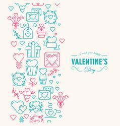 happy valentines day decorative card vector image