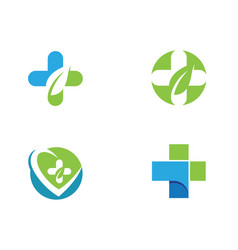 health medical logo template vector image