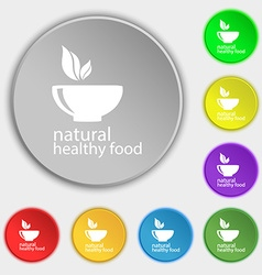 healthy food concept icon sign Symbol on eight vector image vector image
