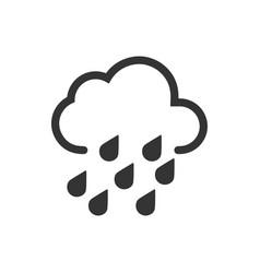 Heavy rain icon vector