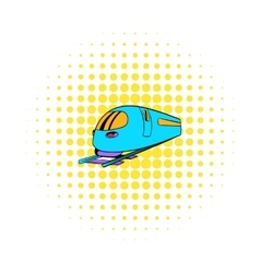 High speed train icon comics style vector