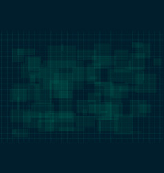 hud dark green background with thin grid and dots vector image