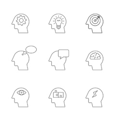 Human mind thinking process vector image
