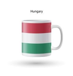 Hungary flag souvenir mug on white background vector