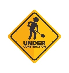 icon under construction worker vector image