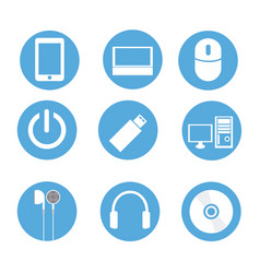 Icons technology vector