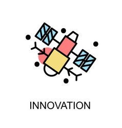 Innovation icon and satellite on white background vector