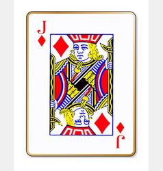 jack diamonds vector image