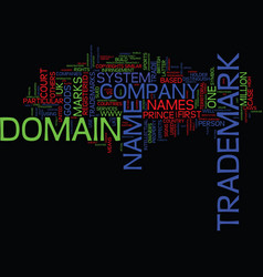 Legal issues about trademarks and domain names vector