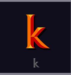 Letter k like bright monogram emblem web icon vector