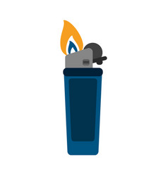 Lighter fire icon image vector