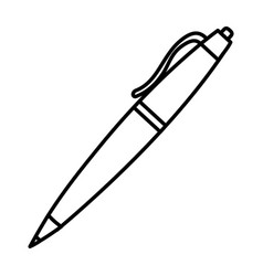 line classic pen design tool object vector image
