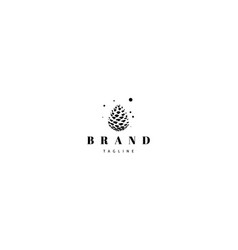 Logo with an abstract image a pine cone vector